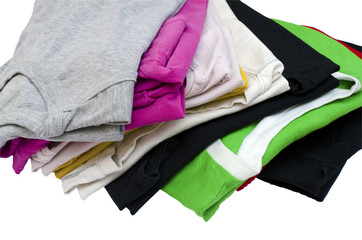 folded clothes isolated on white