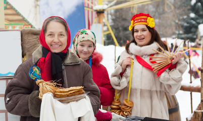 Women  during  Maslenitsa festival