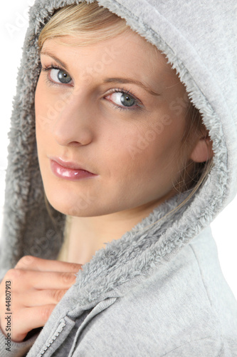 young woman wearing sweater