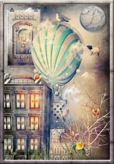 Balloon in the night