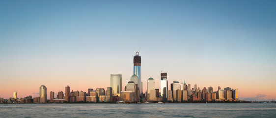 9/11 September 2012  World Trade Center(New-York). Sunset panora