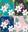 seamless hibiscus fabric textile