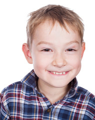 Portrait of young smiling boy.