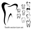 Tooth vector icon set