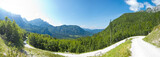beautiful panoramic view of mountain path