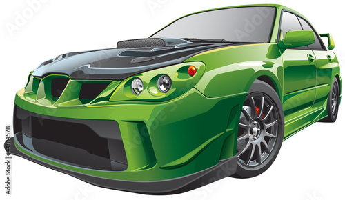 green custom car