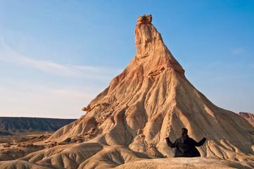 Meditando en el desierto