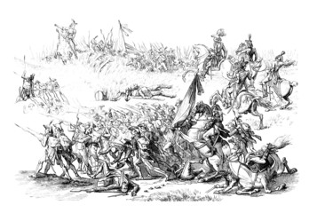 Napoleonian Wars : Battle Scene - 18th/19th century