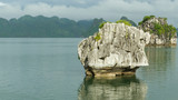 Limestone rocks in Halong Bay, Vietnam