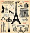 Fototapeten,paris,frankreich,eiffelturm,arc de triomphe