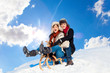 couple winter holiday