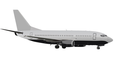 large grey plane illustration