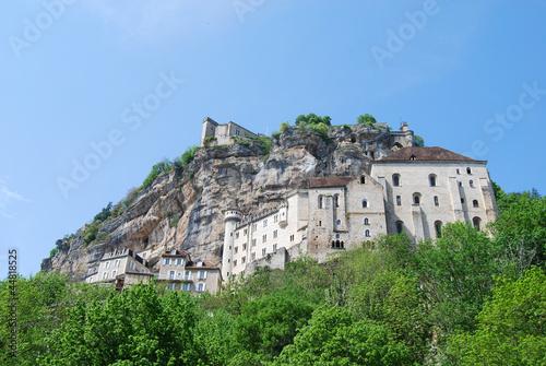 Vista general de Rocamadour. Francia