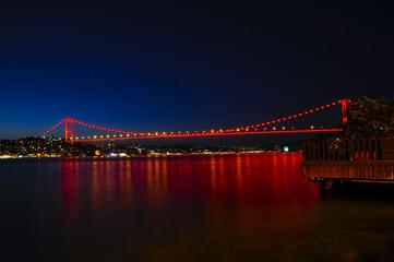 İstanbul Boğaziçi Köprüsü Gece