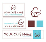 cafe bakery patisserie shop logo