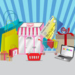 Online shopping by credit card