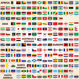 Fototapety Flags of the world, pack world flags