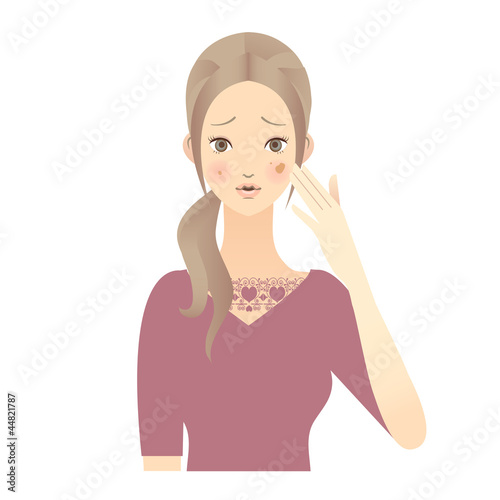 スキンケア 女性 顔