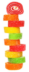 Tower of multicolored candy