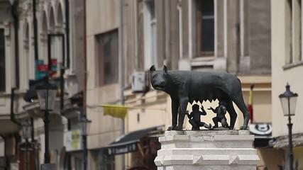 Capitoline Wolf Statue in Bucharest Romania