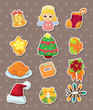 cute cartoon Christmas element stickers