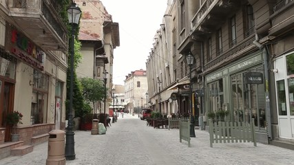 Lipscani Street in Bucharest