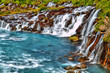 Hraunfossar waterfall in HDR, Iceland