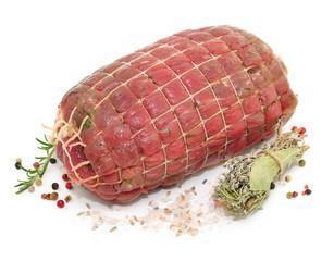Fleisch, Salz, Kräuter