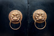 antique oriental door knocker.
