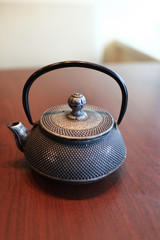 Teapot in cafe