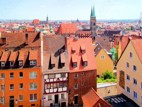View over the the old town of Nuremberg, Germany