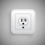 Socket, vector. Electrical outlet.