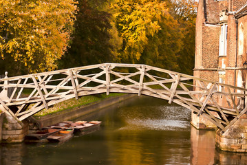 Mathematical bridge in Autumn