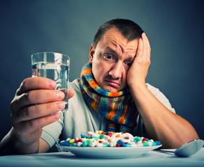 Preparing to eat medicines