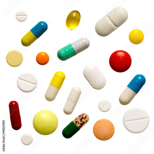 Many colorful pills