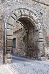 Fortified walls. Nepi. Lazio. Italy.