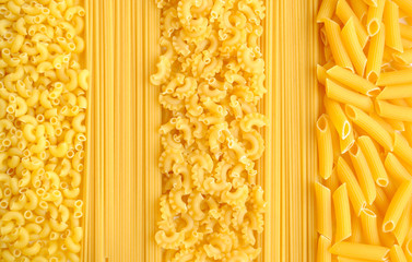 Italian pasta collection background