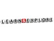 3D Learn And Explore Button Click Here Block Text