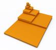 3D DIN Format Konzept A0 bis A8 - Orange 02