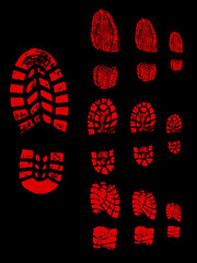 Red shoeprint