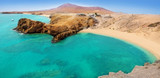 Fototapety Lanzarote Papagayo turquoise beach and Ajaches