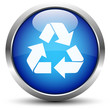 Recycling Button Blau
