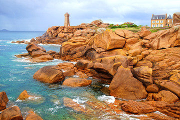 Pink Granite Coast. Brittany, France