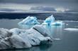 Icebergs on Jökulsárlón glacier lagoon, Iceland