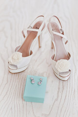 Bridal Shoes and Earrings