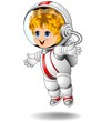 Spaceman Astronaut Kid Cartoon Bambino Astronauta-Vector