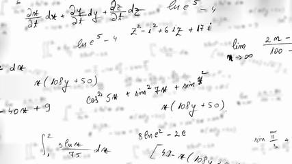 Maths equation loop with alpha matte