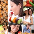 Healthy eating mosaic