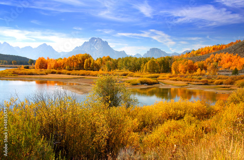 Grand Tetons from oxbow bend