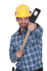 Aggressive builder with sledge-hammer